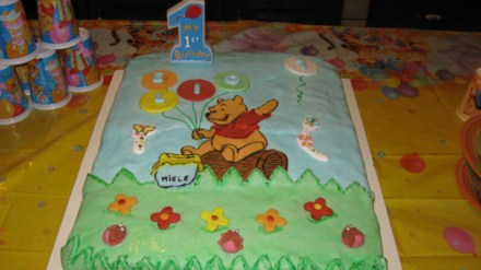 Torta 1°compleanno:Winnie the Pooh – Blogdolci