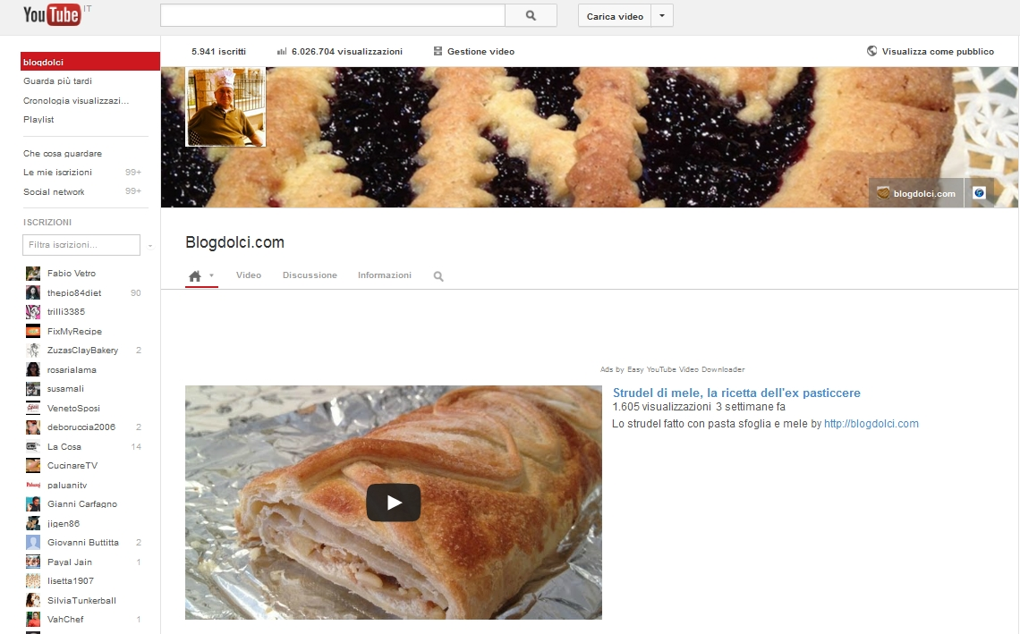 youtube blogdolci